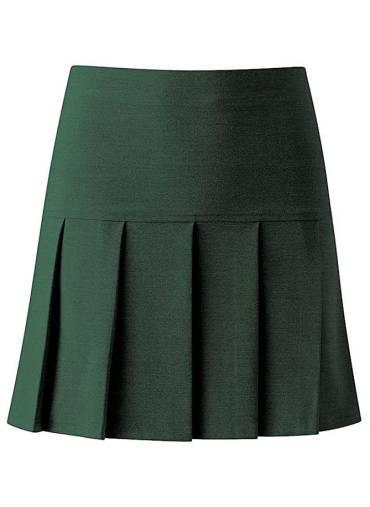 Full Pleat Skirt, bottle green, Priory School, General Schoolwear